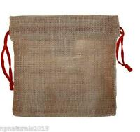Jute, Hessian, Gift, Storage Pouch  Drawstring Bag. 2 sizes to choose from.