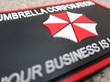 Resident Evil Umbrella Corporation OUR BUSINESS IS LIFE 3D PVC Patch P298