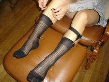 Lot 12 P Chaussettes T-43/46 nylon transparent socks sheer  noir a cote Ref V02