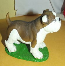 "Tender Times BULLDOG statue figurine brown white 4"" x 3.5"""
