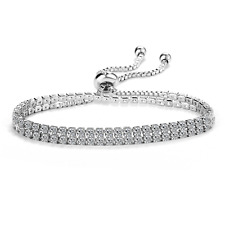 Double Row Solitaire Friendship Bracelet with Crystals from Swarovski® in Box