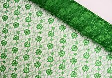 Simple Floral Polyester Lace Dress Fabric (Sold per 1/2 M)