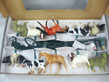 Horse Cow Pig Farm Animals Party String Light Set in/outdoor NEW FREE SHIPPING