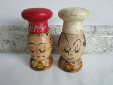 Japan wooden vintage Salt & Pepper Shakers; Peppy, Salty Kitchen Kitsch