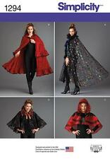 SIMPLICITY SEWING PATTERN  MISSES' CAPES ONE SIZES FITS MOST 1294