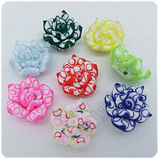 20pcs Mixed Fimo Polymer Clay Lotus Flower Beads 9mm x 15mm Jewelry Findings R46
