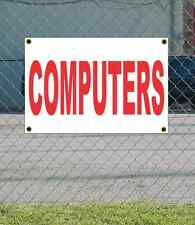 2x3 COMPUTERS Red & White Banner Sign NEW Discount Size & Price FREE SHIP