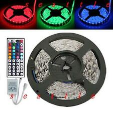 5M SMD 5050 RGB Nonwaterproof LED Strip 300LED Light Flexible + 44key IR Remote