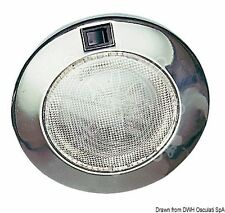Osculati Stainless Steel Built-In Round Spotlight with Switch 15W 150 mm