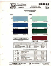 1952 DE SOTO FIREDOME CUSTOM DELUXE 52 PAINT CHIPS SHERWIN WILLIAMS