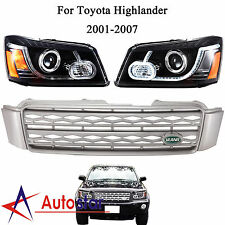 LED Headlights With Grille Land Rover Style For 2001-07 Toyota Highlander Kluger