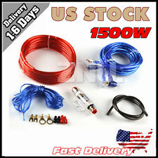 8GA RUSE Car Audio Subwoofer Sub Amplifier AMP Wiring Kit Power Cable US STOCK