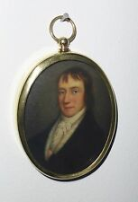 Portrait Miniature of William Wordsworth in an oval brass frame.