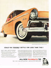 Vintage 1955 Magazine Ad Plymouth Biggest Longest Lowest Of The Low-Price Field
