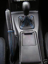 BLUE STITCHING FITS MAZDA MX5 MIATA MK1 1990-1997 GEAR SHIFT BOOT HANDBRAKE