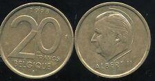 BELGIUM   BELGIQUE 20 francs  1996   ( belgique )   ( aus )
