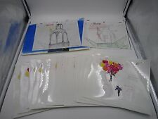 Saint St. Tail Anime Original Production Cel With Line Drawing Background Set A