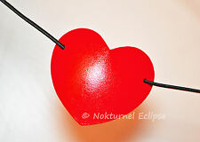 SMALL Red Heart-Shaped Leather Eye Patch Pirate Superhero Anime Accessory UNISEX