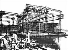 Photo: Ultra Rare: Only Known Stern View Of Titanic & Olympic At Harland & Wolff