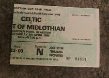 1988 scottish cup semi final match ticket.