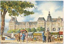 CP 75 PARIS - Le Quai Malaquais et le Palais du Louvre - Ill. Barday