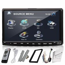 HD 7 inch Touchscreen Double 2 Din In dash Car Stereo Radio Mp3 CD DVD Player US
