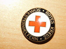 Originales emailiertes insignia, cruz roja, schwesternhelferin