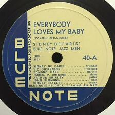 """78 SIDNEY DE PARIS Everybody Loves My Baby / Call Of The Blues 12"""" Blue Note 40"""