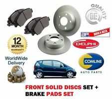 FOR MERCEDES A CLASS A140 1.4 1998-04 FRONT SOLID BRAKE DISC SET + DISC PADS KIT