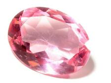 Large (1) 21mm Czech Bohemian vintage oval faceted pink glass rhinestone