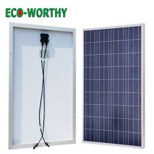 100W Poly Solar Panel for Off Grid 12V Battery Charger Home Cabin Power Supply