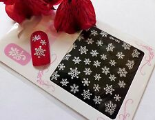 *Christmas Sparkly Silver Snowflake* 3D Glitter Nail Art Sticker Decal *NEW* 105