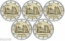 2 Euros € ALEMANIA 2014 conmemorativa Iglesia de San Michael  5 monedas SC / UNC
