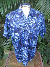 Hawaiian ALOHA shirt M pit to pit 24 PEPPERMINT BAY cotton big tropical  fish