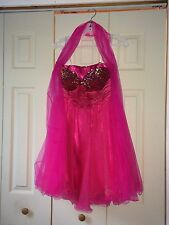 Teen/Young woman's fuschia size small prom dress, Pink, S