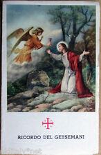 1900s santino Gesù Cristo Ricordo del GETSEMANI Gerusalemme--con foglia di Olivo