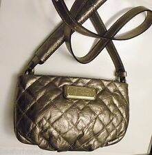 NWT MARC BY MARC JACOBS Crossbody - New Q Quilted Percy Purse Handbag Gold