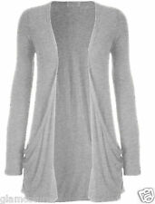 LADIES LONG SLEEVE BOYFRIEND CARDIGAN WITH POCKETS PLUS SIZES 8--26