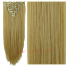 Real Thick Full Head Clip In Hair Extensions Long Straight Hair Extentions HG9