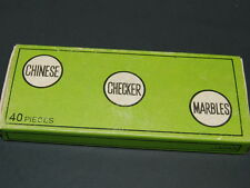 Dt-1 NICE VINTAGE BOX Of 40 CHINESE CHECKER MARBLES MARKED JAPAN