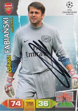Lukasz Fabianski mano firmada Arsenal Champions League ADRENALYN XL.