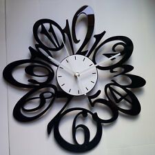 1 New 15 In Large Black Number Wall Clock Home Room Decor Modern Art Fashion