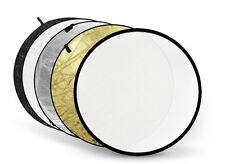 Light Reflector - 110cm Circular- Multi Collapsible 5in1 - Photo Studio Video