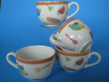 4 Villeroy & Bosh Coffee/Tea Cups CITTA & Campagna-DESCO Utensil/Kitchen Design