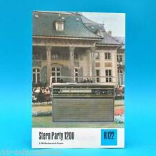 Stern Party 1200 2-Wellen-Super 1974 | Prospekt Werbung DEWAG DDR Radio R122 D