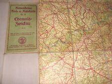 Ravensteins Rad u. Autokarte Nr.15 Chemnitz - Zwickau Landkarte Strassenkarte