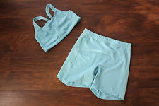 Nike Dry Fit shorts and sports bra blue sz 34 C L  fitness yoga running work out