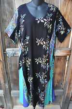 """ART TO WEAR LAPIS DRESS IN ALL NEW KONA BY MISSION CANYON, SIZE MED, 46""""B!"""