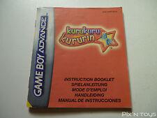 NINTENDO GBA / Notice Instruction / KuruKuru Kururin [ AGB-AKRP-NEU5 ]