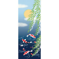 Japanese traditional towel TENUGUI COTTON KOI FISH (HA)